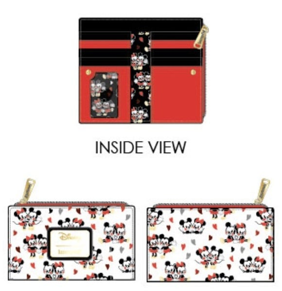 Mickey & Minnie Mouse Love AOP Wallet Disney Loungefly PRE-ORDER Delivery expected late January
