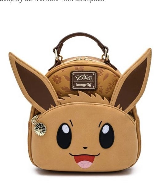 Pokemon Eevee Cosplay Mini-Backpack LOUNGEFLY