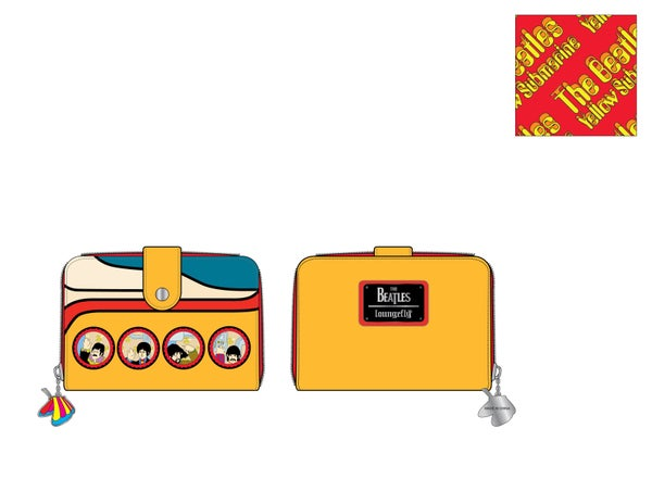 The Beetles Yellow Submarine zip around Wallet Loungefly PRE-ORDER