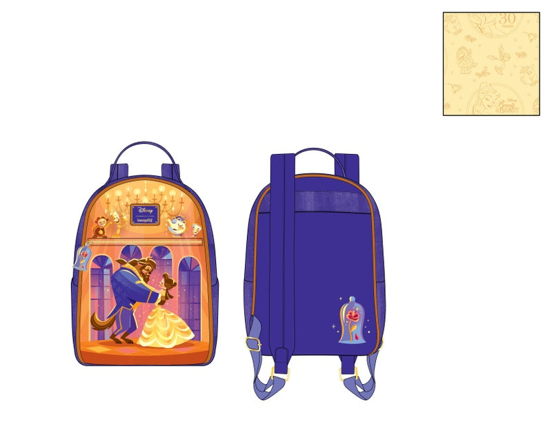 Beauty and the Beast Ballroom scene mini Backpack Disney by Loungefly PRE-ORDER expected late May