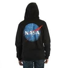NASA Logo Long Sleeve Zipper Hoodie with  Pocket