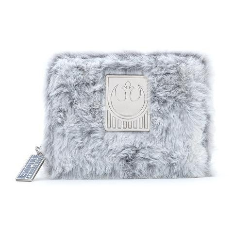 Star Wars The Empire Strikes Back 40th Anniversary Hoth Faux-Fur  Wallet Loungefly