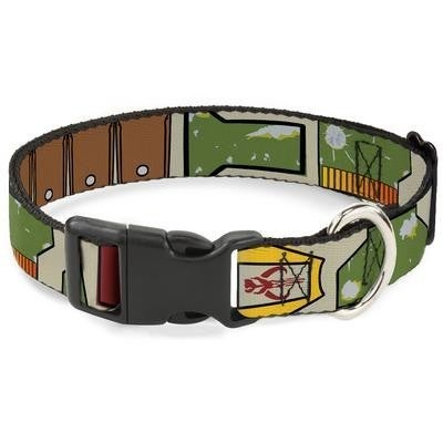 Dog / Cat Plastic Clip Collar - Boba Fett Utility Belt