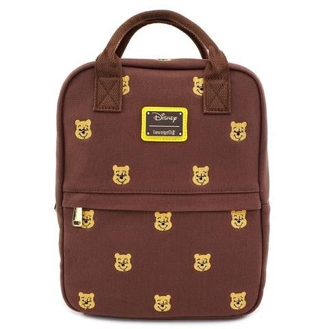 Disney Winnie the Pooh Canvas Embroidered Backpack Loungefly