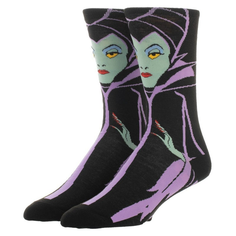 Disney Villains Maleficent 360 Character Crew Sock