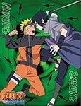 NARUTO SHIPPUDEN SASUKE VS NARUTO SUBLIMATION THROW BLANKET