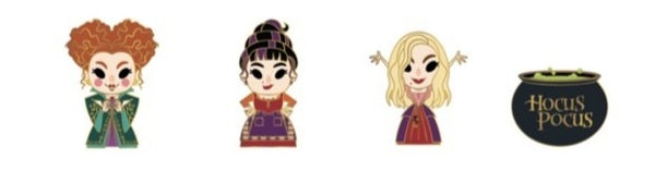 HOCUS POCUS 4 PC ENAMEL PINS SET PRE-ORDER for August