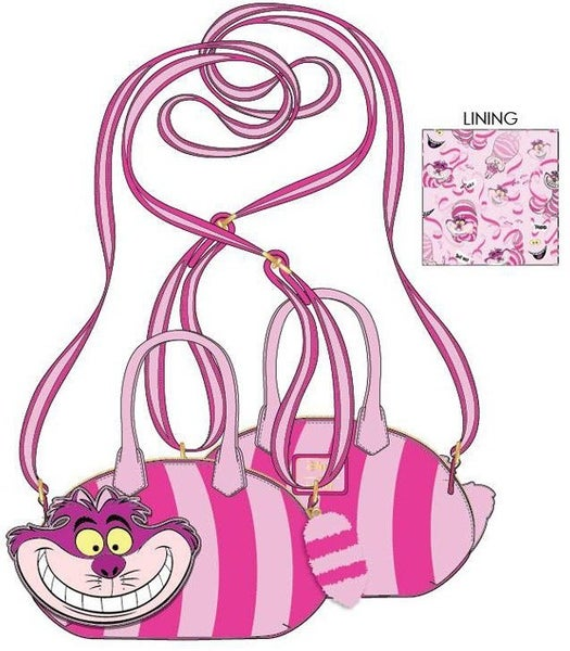 PREORDER Loungefly Disney Alice in Wonderland Cheshire Cat crossbody Expected Late June