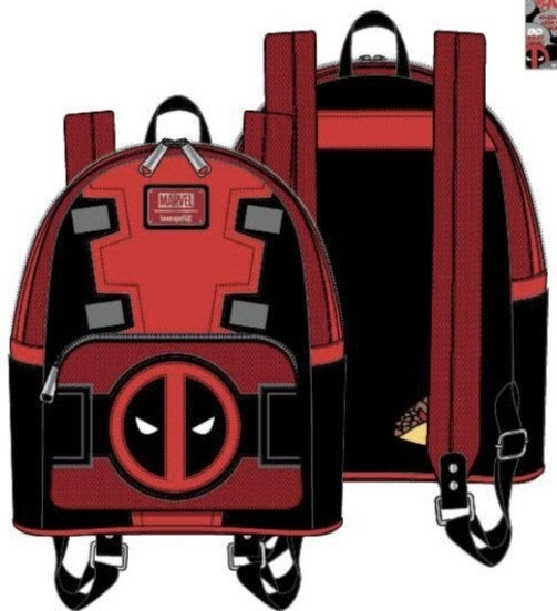 [SET] DEADPOOL Merc W/ A Mouth Mini Backpack & Wallet [PRE-ORDER - SEPTEMBER DELIVERY] LOUNGEFLY