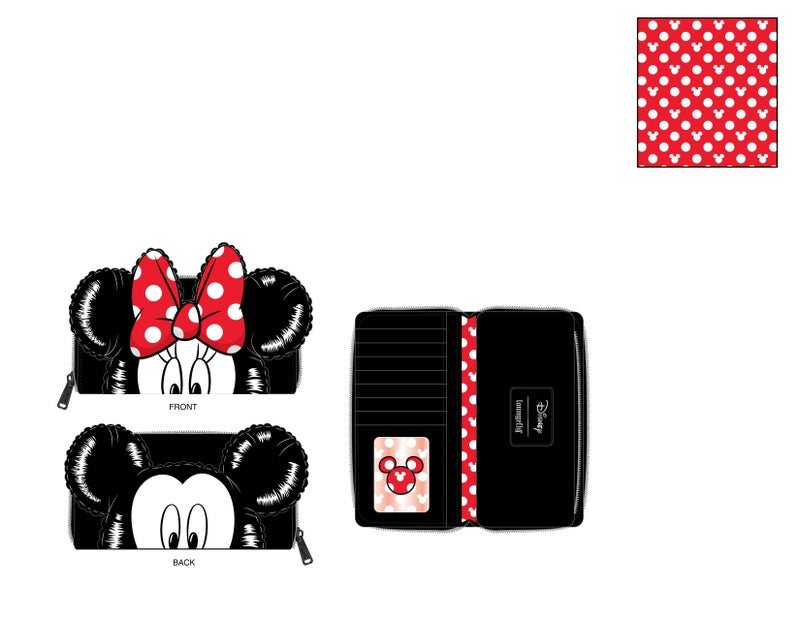 Mickey Mouse Balloon cosplay ziparound Wallet PRE-ORDER expected late May