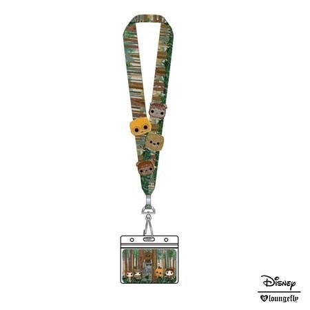 Star Wars Pop! by Loungefly Ewoks Group Lanyard with 4 Enamel Pins
