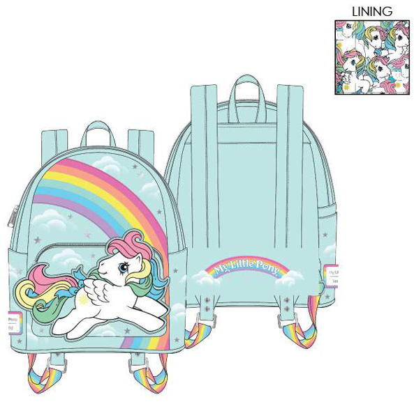 PREORDER Loungefly Hasbro My Little Pony starshine rainbow mini backpack Expected Late June