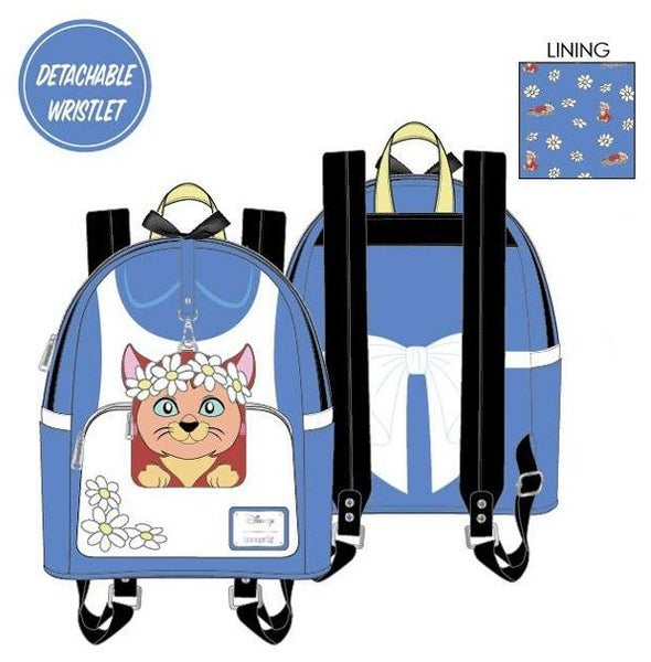 PREORDER Loungefly Disney Alice in Wonderland cosplay mini backpack w/ detachable wristlet Expected Late June
