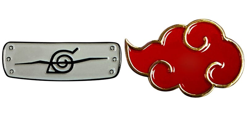 NARUTO  Symbols & Icons 2 Pack Enamel Pins