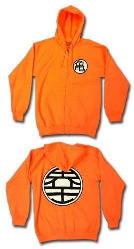 Dragon Ball Z Goku Symbol Hoodie Zipper
