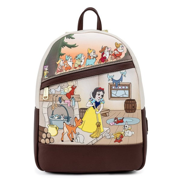 Snow White and the Seven Dwarfs Multi Scene Mini Backpack Loungefly