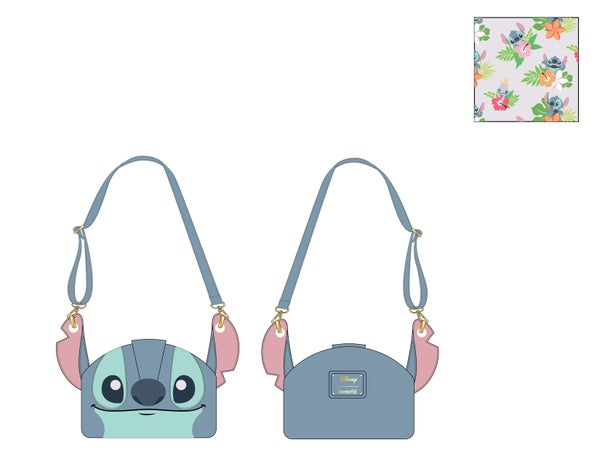 Stitch Luau Cosplay Crossbody Loungefly PRE-ORDER expected late March