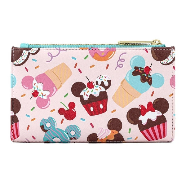 Mickey & minnie Mouse Sweets Icecream Flap Wallet Loungefly