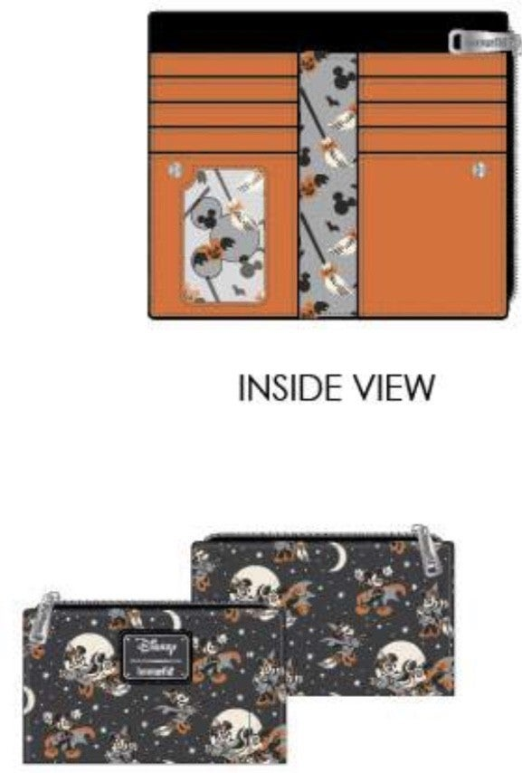 Mickey Halloween AOP Wallet  [PRE-ORDER - SEPTEMBER DELIVERY] LOUNGEFLY
