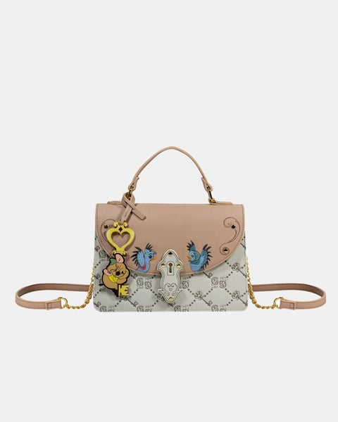 Cinderella Satchel  Crossbody with Monogram Print & Gus Disney Daniel Nicole