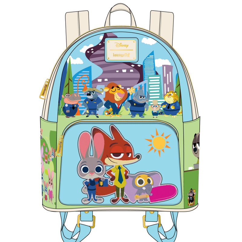 Zootopia chibi group mini Backpack OR wallet Disney by Loungefly PRE-ORDER expected late May