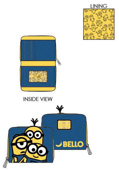 PREORDER Loungefly Minions bello zip around wallet Expected late June