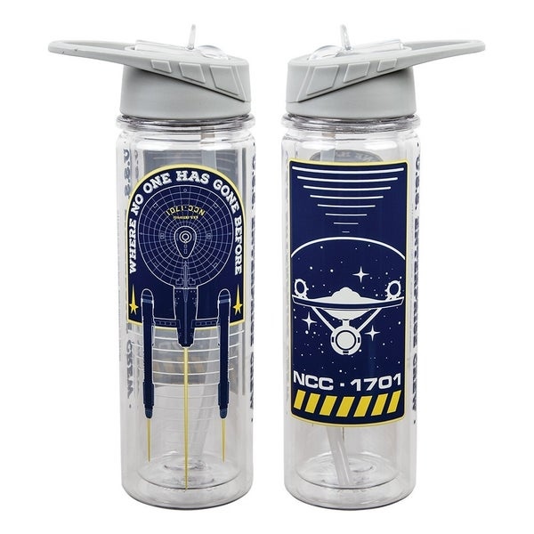 Star Trek 16 oz. UV Double-Wall Tritan Water Bottle Double Wall