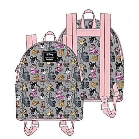 DISNEY Cats SET, MINI BACKPACK & WALLET options [PRE-ORDER - OCTOBER DELIVERY] LOUNGEFLY