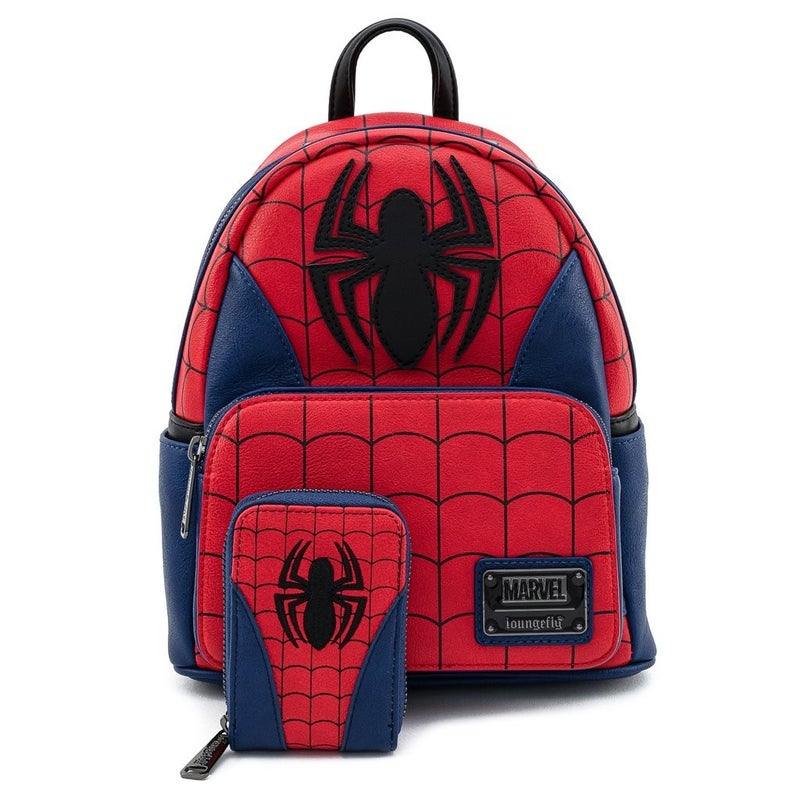 Marvel Spider-Man Classic Mini-Backpack or Wallet Set Loungefly