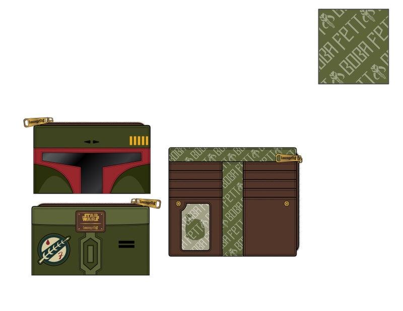 Star Wars Boba Fett flap Wallet Loungefly PRE-ORDER