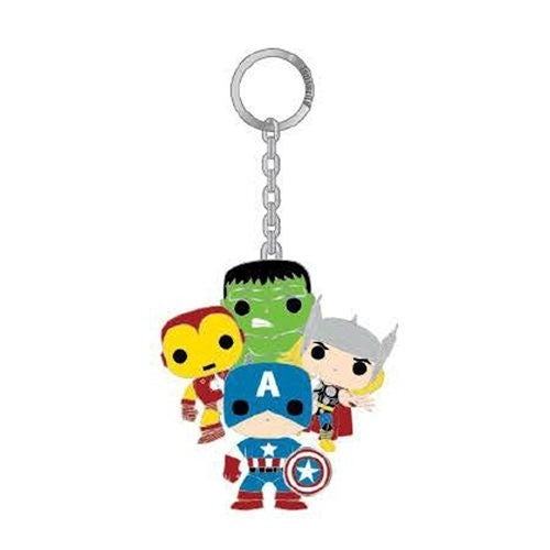 Marvel Pop! by Loungefly Classic Avengers 2 1/2-Inch Enamel Key Chain