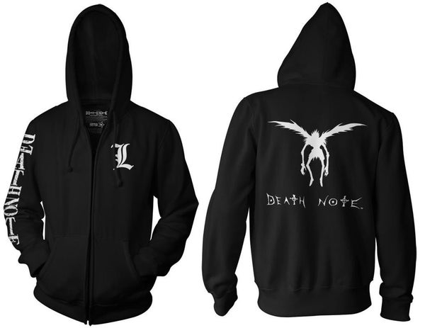 Death Note Hoodie Zip Up Ripple Junction