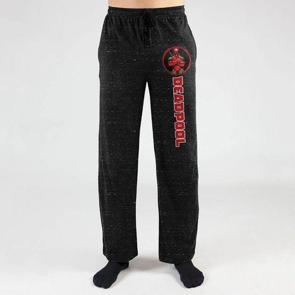 Deadpool Black Heather Sleep Pants