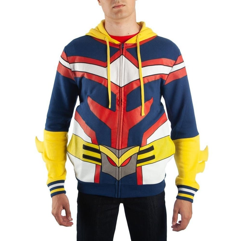 My Hero Academia All Might Cosplay Hoodie Zipper with Hair