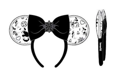 PREORDER Loungefly Disney Steamboat Willie ears bow rope piping headband Expected Late June