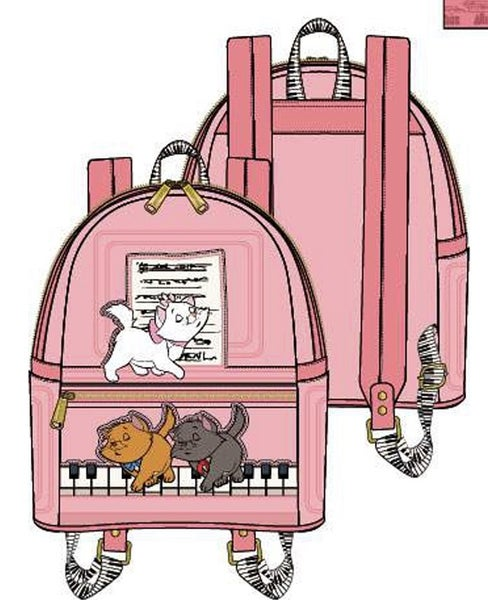 Aristocate Piano Kitties BACKPACK, WALLET & SET Options Loungefly PRE-ORDERS Nov/Dec