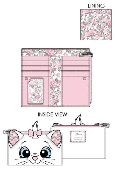 PREORDER Loungefly Disney Marie floral flap wallet Expected late June
