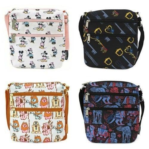 Passport Bags fromLoungefly Star Wars, Kingdom Hearts, Mickey & Minie