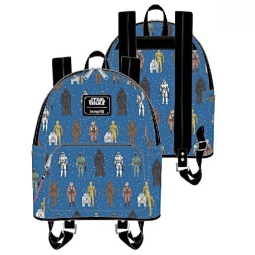Star Wars Action Figures AOP SET & MINI BACKPACK options LOUNGEFLY