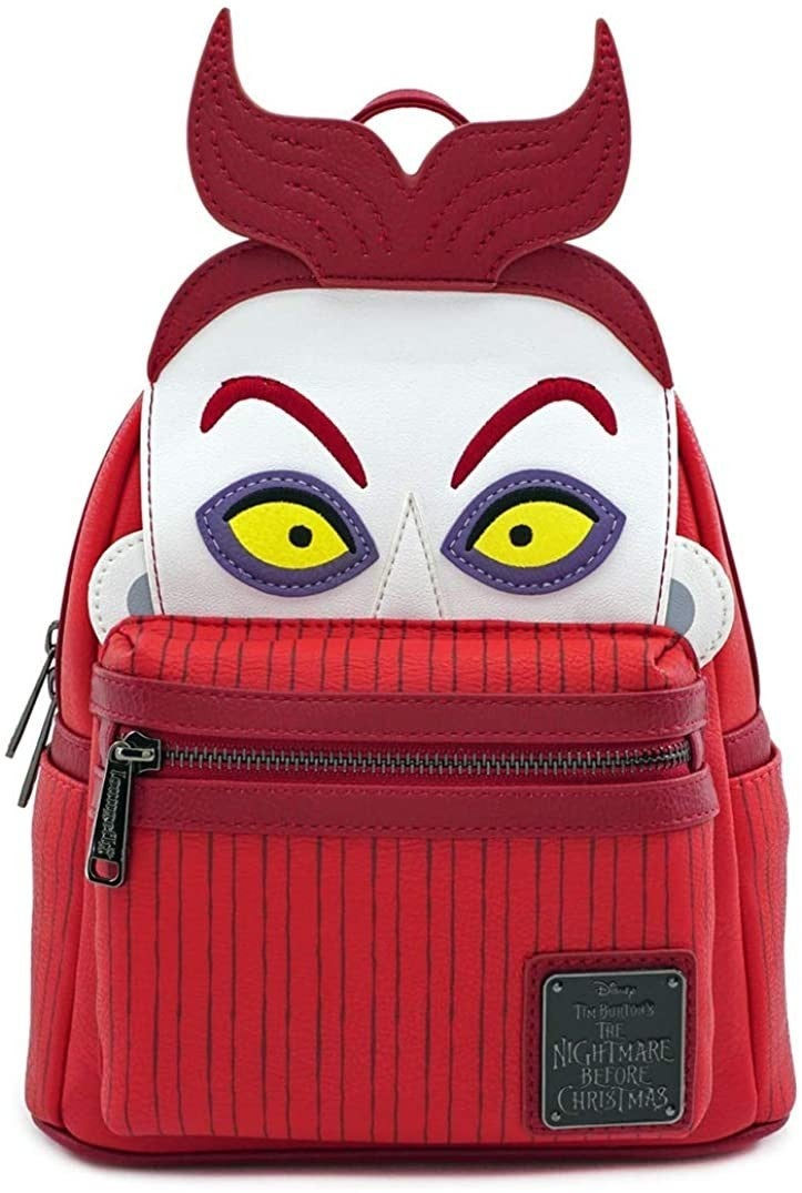 NIGHTMARE BEFORE CHRISTMAS LOCK CHARACTER MINI BACKPACK LOUNGEFLY