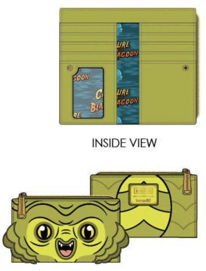 [SET] CREATURE FROM the BLACK LAGOON Cosplay Mini Backpack & Wallet  [PRE-ORDER - SEPTEMBER DELIVERY] LOUNGEFLY