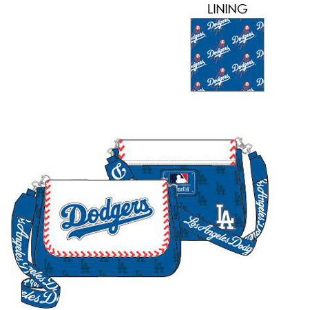 PREORDER Loungefly MLB LA Dodgers seam crossbody Expected late June