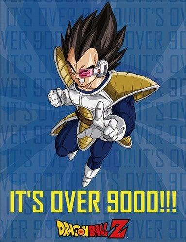 DRAGON BALL VEGETA IT'S OVER 9000!!! SUBLIMATION THROW BLANKET