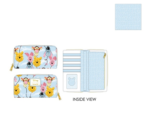 Winnie the Pooh Balloon Friends  Wallet Loungefly - PRE-ORDER expected late March