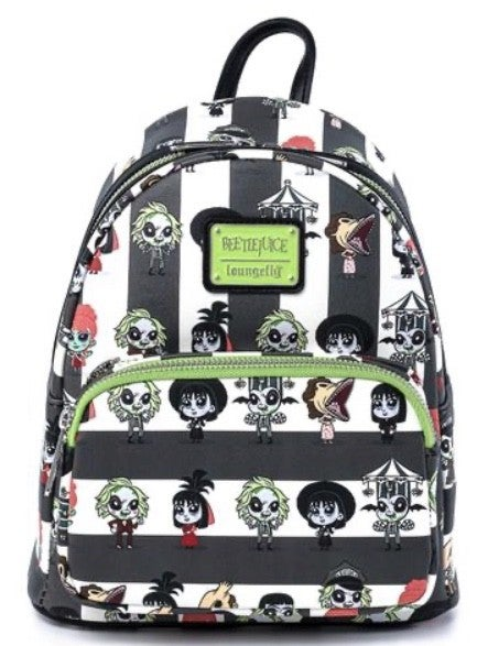 BEETLEJUICE Chibi AOP MINI BACKPACK LOUNGEFLY