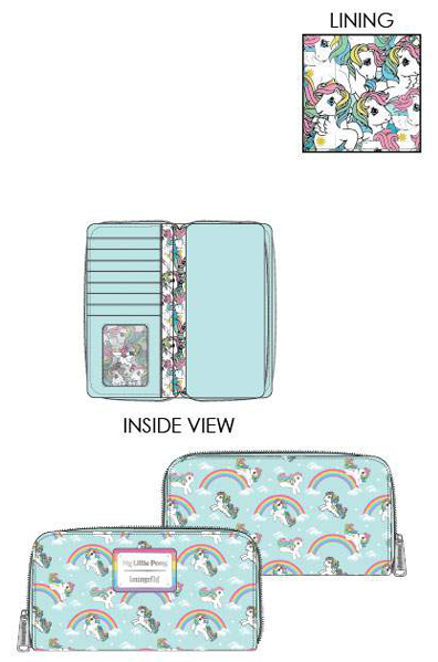 PREORDER Loungefly Hasbro My Little Pony starshine rainbow ziparound wallet Expected late June