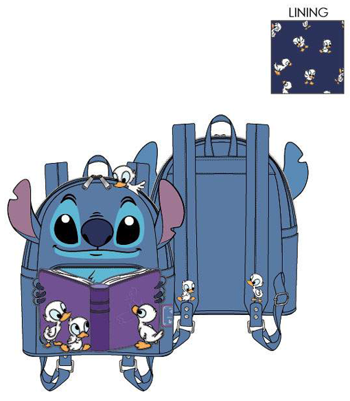 PREORDER Loungefly Disney Lilo and Stitch story time duckies mini backpack Expected late June
