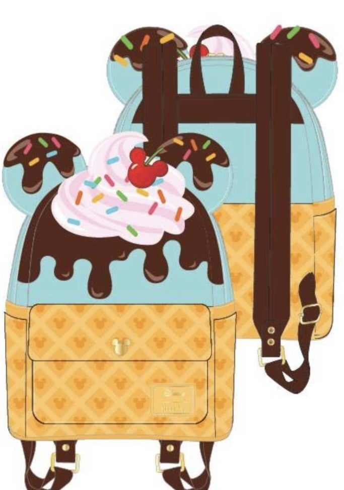 Mickey & Minnie Mouse Sweets Mini Backpack  Icecream Loungefly - PRE-Order late February