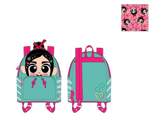 Wreck It Ralph Vanellope Cosplay Mini Backpack  Loungefly - expected late March