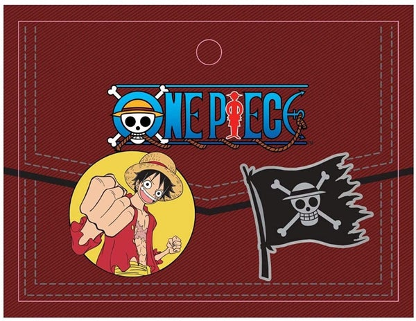 ONE PIECE Luffy and Flag 2-Pack Enamel Metal Pins